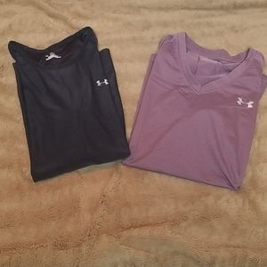 (2) Under Armour heatgear shirts